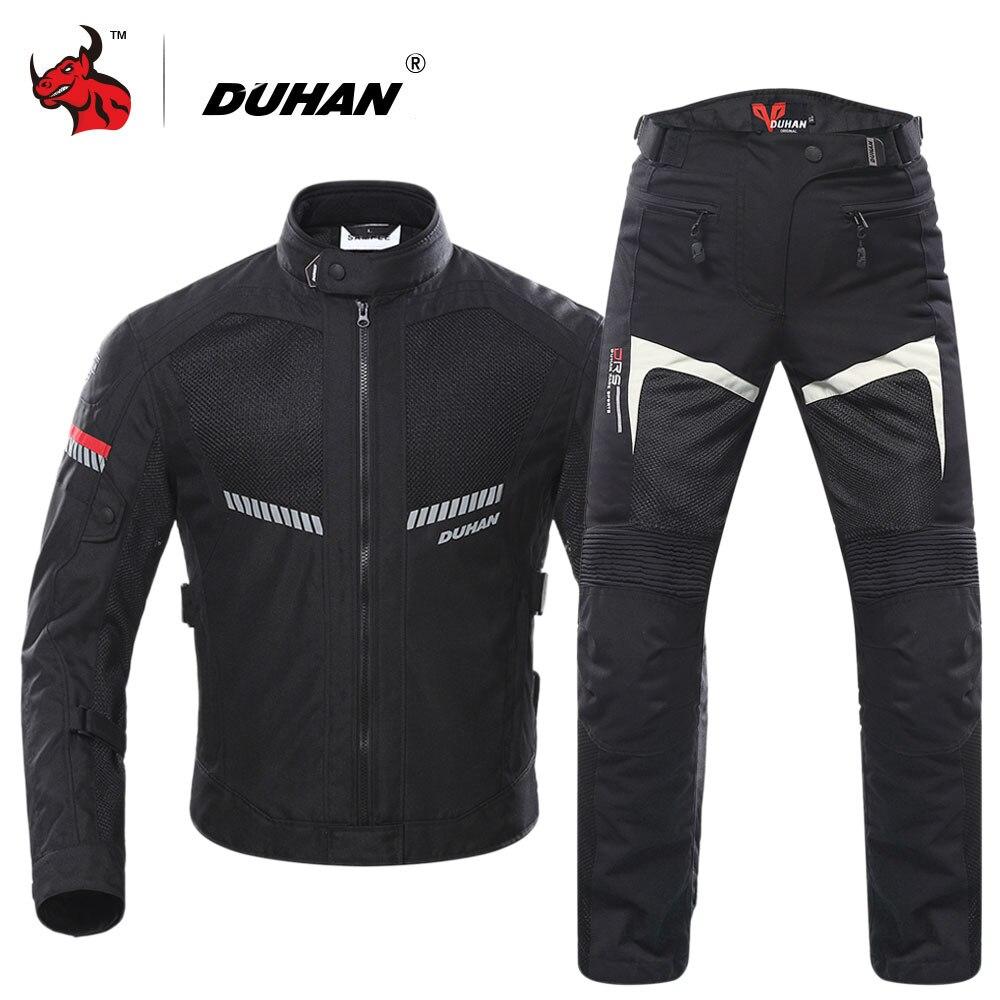 Veste de Moto DUHAN veste de Moto pour hommes équipement de protection de Moto respirant maille réfléchissante pantalons de Motocross d'été
