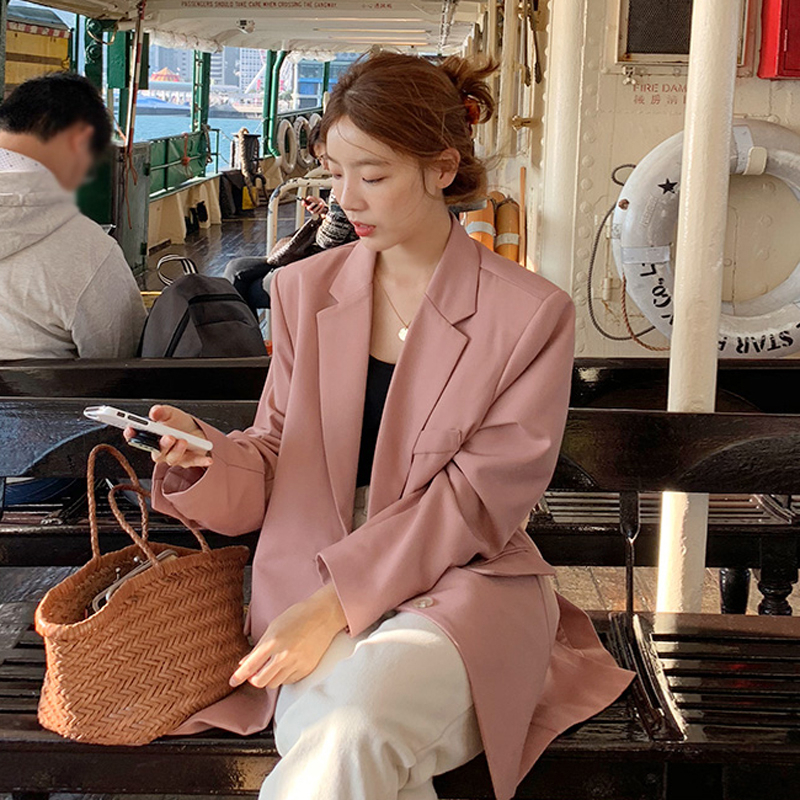 New Spring Summer Fashion Casual Single Breasted Pocket Blazers Elegant Office Fresh Outwear Blazer Plus Size C181(China)