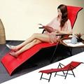 Multifuncional Dobrável Espreguiçadeira Cadeira de Praia Ao Ar Livre Longa Cama Ângulo Ajustável Respirável Varanda Mobiliário Cadeira Do Lazer