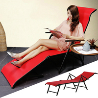Multifunctional Foldable Sun Lounger Outdoor Beach Long Chair Bed Adjustable Angle Breathable Balcony Leisure Chair Furniture