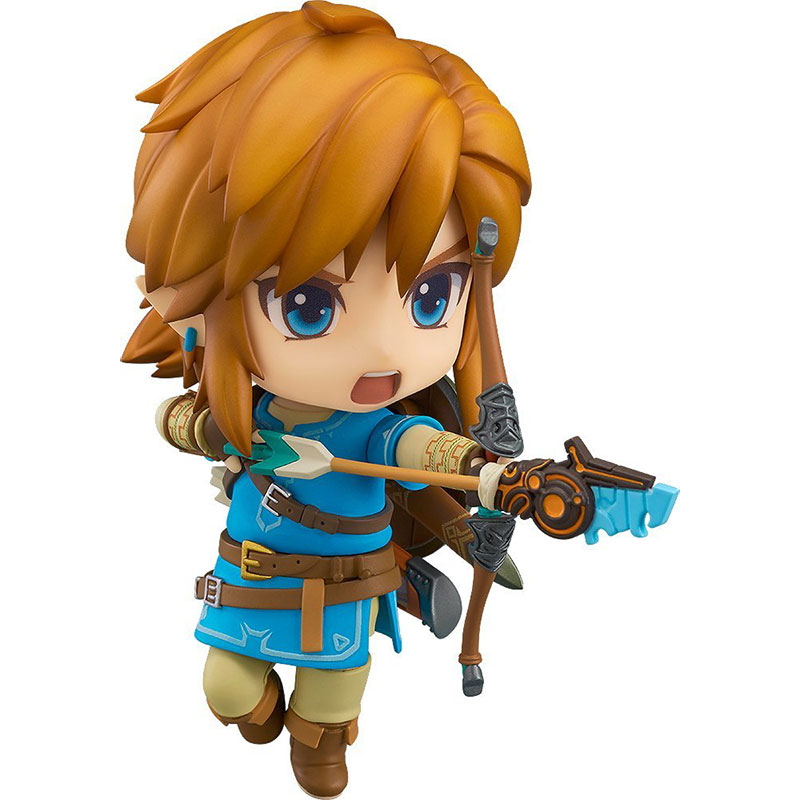 The Legend of Zelda Link Nendoroid Mini Action Figure Breath of the Wild Deluxe Edition | 10 cm