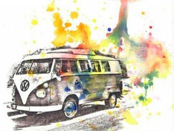 5D diy pintura de diamante punto de cruz VW bus imagen resina cuentas cuadradas completo rhinestone bordado icono home deco