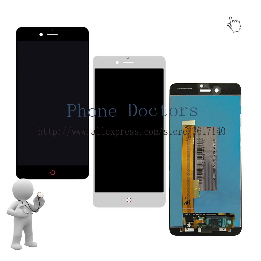 5.2'' Full LCD DIsplay + Touch Screen Digitizer Assembly For ZTE Nubia Z11 Mini S NX549J ; Black / White ; New ; 100% Tested