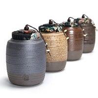 Handmade Chinese Style Kongfu Tea Caddy Tea Canister Sealed Tea Storage Chests