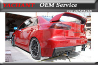 Car Styling Carbon Fiber Body Kit Rear Bumper Lip Fit For 2008 2012 Lancer Evolution X EVO 10 EVO X OEM Style Rear Lip