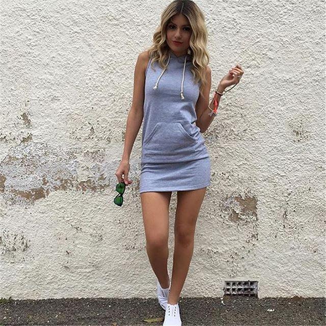 Tank Dress Pocket Hoody...