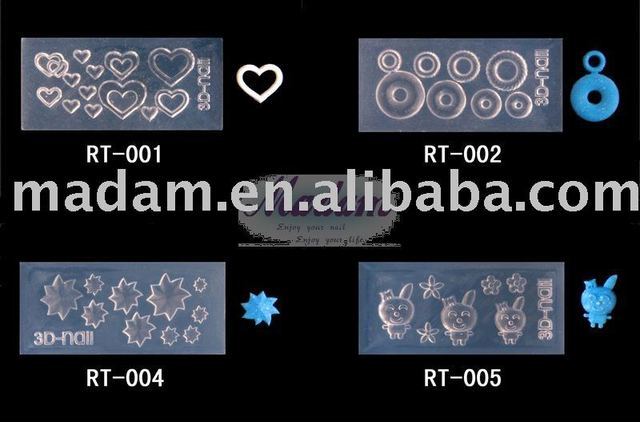 wholesale price for acrylic gel 3D nail art mold