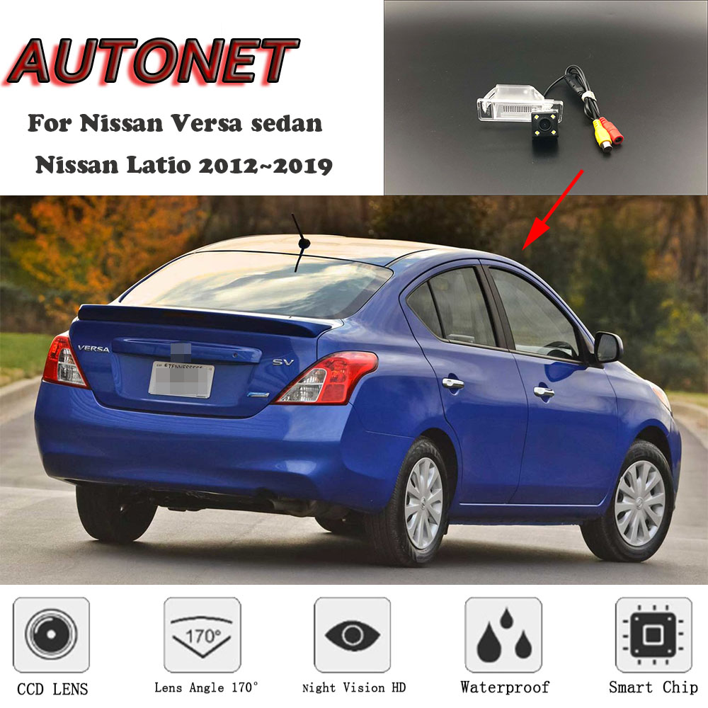 AUTONET HD Night Vision Backup Rear View camera For Nissan Versa for Nissan Latio sedan 2012~2019 license plate camera