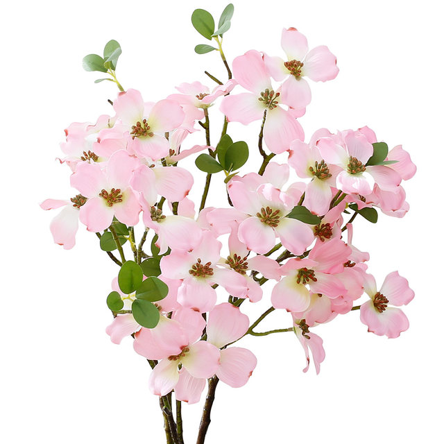 Online shop yiliyajia 2pcs artificial flowering dogwood silk flower yiliyajia 2pcs artificial flowering dogwood silk flower cornus florida for home and table decor mightylinksfo