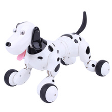 Smart RC Animals Robot Simulation Dog Sing Dance Remote Control intelligent Pink And Black Dog Electronic Pet Toy Kid Gift