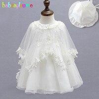 3 sztuk/0-12 m/lato noworodka suknia pierwsze urodziny chrzest chrzest sukienki koronka niemowląt dziewczynek strona ustawia wedding dress bc1181