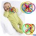 Brinquedo do bebê do Divertimento Bola Brinquedo Do Bebê Chocalhos Mobiles Desenvolver Alto inteligência Bebê Agarrar brinquedo de Plástico Sino de Mão Chocalho -- BYC067 PTP