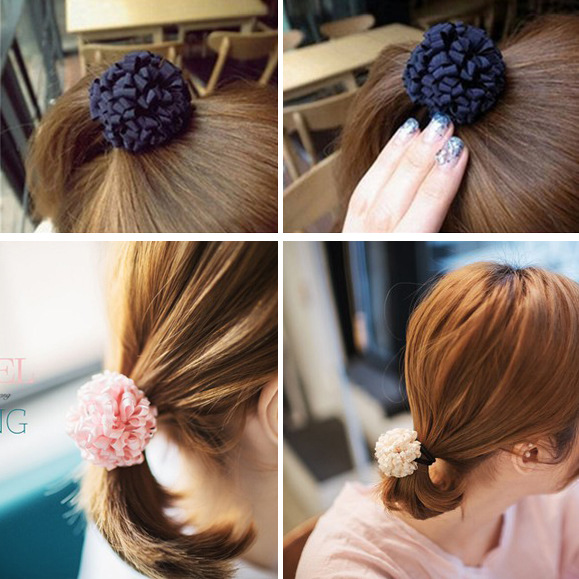 Han edition hair headwear Floral multilayer hair ring hair rope sinews, free home delivery han edition hair pearl four petals small clip hairpin edge clip a word free home delivery