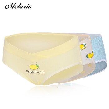 588ad8f472c8 Melario 3 unids/lote de algodón de embarazo maternidad las mujeres ropa  interior bragas las mujeres embarazadas ropa en forma de U-Bajo-Braguita  cintura M L ...