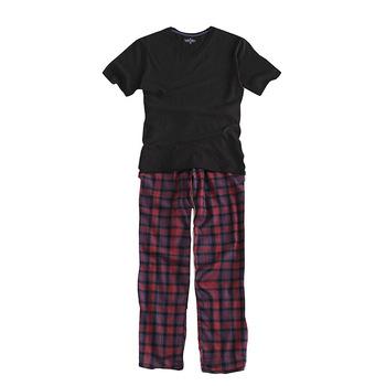 100 bawełna nowy 2018 piżama na lato zestawy Plaid Pijama piżama męska z krótkim rękawem V-Neck męska bielizna nocna mężczyźni piżamy Plus rozmiar S-XXL tanie i dobre opinie BZEL NO 72 REGULAR COTTON Sznurek