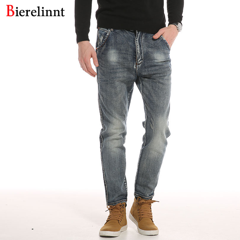 Hot Sale Denim Autumn & Winter Fashion Casual Cotton Loose Harem Pants Jeans Men,2017 New Arrival Good Quality Men Jeans,019
