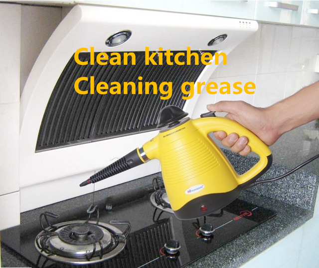 Gentil Handheld Steam Cleaner High Pressure Cleaning Portable Clean Machine  Kitchen Cabinets Clothes With Brush Iron Generator