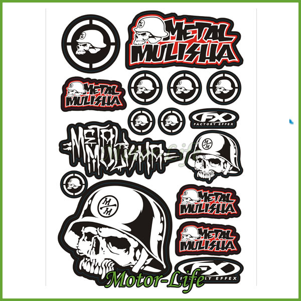 Motorcycle sticker design decal motorbike pit dirt bike atv quad