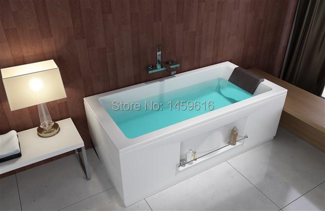 все цены на 63' Square Fiberglass With Resin Freestanding Seamless Joint Bathtub Acrylic With ABS Composite Soaking Bath W6035C онлайн