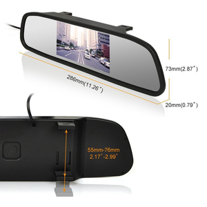 Image 3 - AMPrime 4.3 inch Car HD Rearview Mirror Monitor CCD Video Auto Parking Assistance LED Night Vision Reversing Rear View Camera