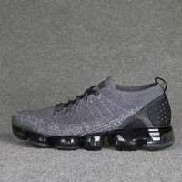 2018 New Hot vapormax Sports Shoes air Cushion Athletic Sneakers Flyknit Breathable Men Running Shoes Women Sneakers Grey Black