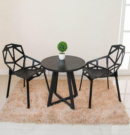 Modern minimalist casual coffee table round table small size table talk table desk reception desk glass dinner table milk tea shop reception desk and chair small family dining table