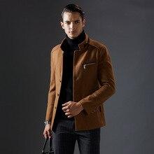 2016 Новая Мода Классический Мужчины Шерсть Кашемировые Пальто Воротник Качества Cachemire Laine Весте