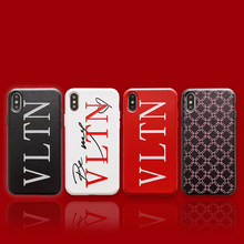 Funda de silicona suave de marca de lujo Italia VLTN para apple iphone 6 S 7 7plus 8 8plus X XR XS max 3D relieve Japón TKY teléfono coque(China)