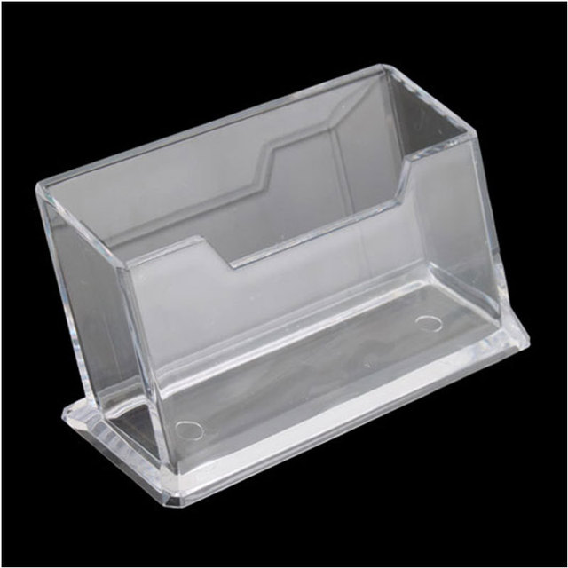 practical clear plastic business card holder display stands shelf 5886 - Plastic Business Card Holders