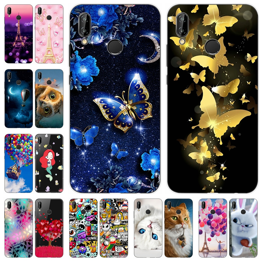 TPU For Huawei P20 Lite Case Luxury Nova 3E Case Cute Silicone Soft Cover For Huawei P 20 Lite Nova 3 E Back Cover Phone Cases