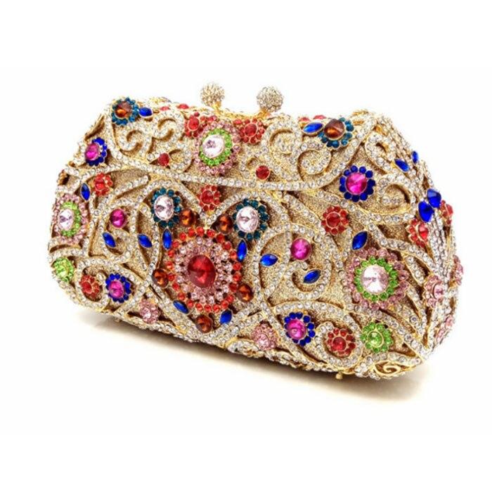 Mode Cadeaux multi Femme D'embrayage Pour Noël Main Sac Chaîne Bandoulière Jour En Sacs Pu D'épaule Embrayages Ciel Diamant À Femmes Métal De D'affaires p5UqwUB