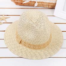 Casual Breathable Sunscreen Beach Cap Fedoras Neutral Casual Short Cap Handmade Vintage Woven Straw Hats Free