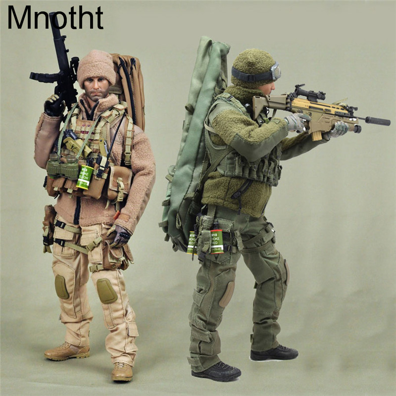 Mnotht 1/6 Solider Sniper Mercenary equipment kit Clothes Green Sand Military model For 12in Action Figure Toy l30 VH1020 free shipping gitup git2 16m ultra 2k wifi dv sports action helemet camera 18 in 1 accessories