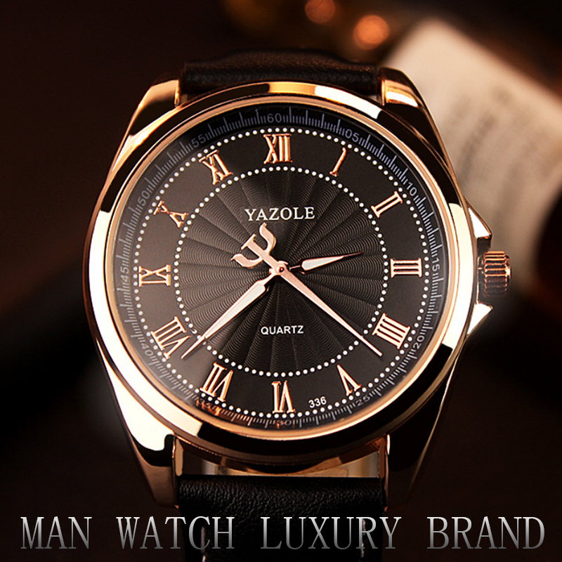 YAZOLE Top Brand Men's Watches Luxury Waterproof Men's Watch Men Watch Fashion Luminous Leather Strap Male Clock  Multan