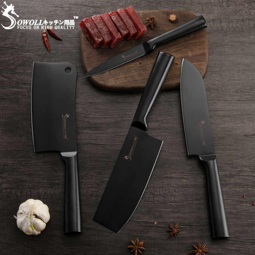 Sowoll 6,5 zoll Cleaver Edelstahl Messer Nicht-slip Griff Sharp Klinge Hacken Messer Steak Fleisch Knochen Küche Zubehör