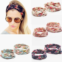 Kolamom Parent Child Headbands Baby And Mom Hair Bands Toddler Hair Accessories Infant Head Wrap Elastic