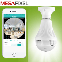 Megapixel Fisheye Panoramic ip camera cctv video surveillance 3mp 1080p hd Cam 360 View Wifi camera Camcorder 128G with LED lamp