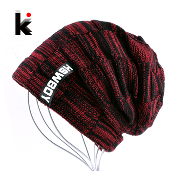 Autumn And Winter Bonnets Hat For Men Women Knitted Plaid Beanies Skullies Keep Warm Add Velvet Caps Men Bonnet Touca Muts 1