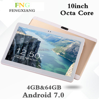 Free Shipping 10 1 Inch Tablet Pc Ocat Core 4GB RAM 64GB ROM Android 6 0