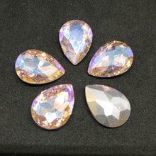Diamante de imitación Rosa AB DR cristal costura Pointback DIY vestido de boda y bolso 6*8 7*10 10*14 13*18 18 18*25 20*30