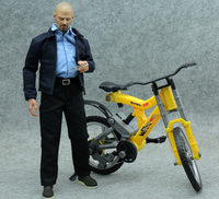 1pc NEW Plastic Bicycle for 1/6 Action Figures, Bicycle Model Two Color Frame Available