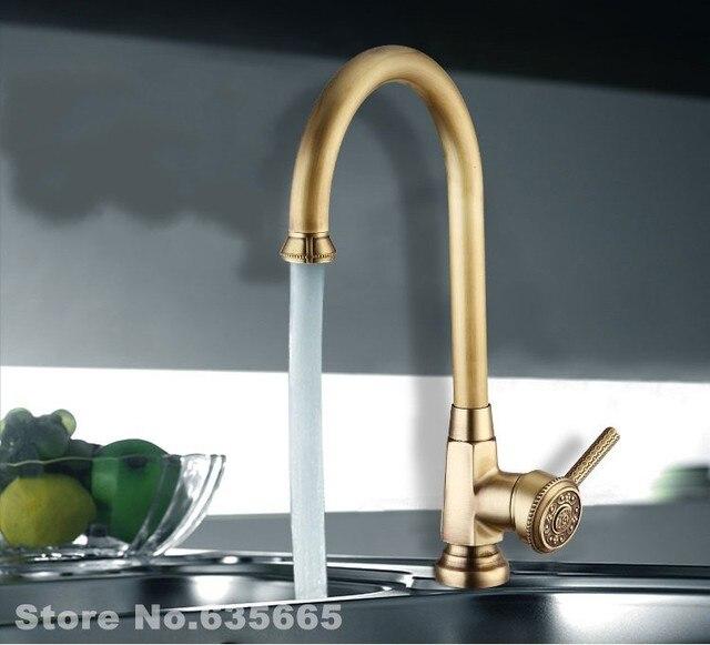 Luxury Antique Faucet Kitchen Bathroom Vessel Sink Mixer Tap Hot And ...