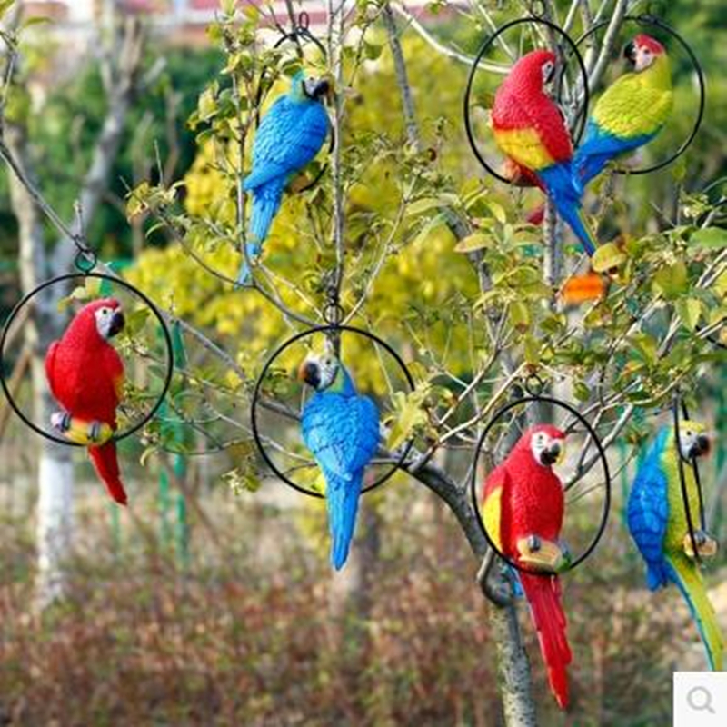 Multi style simulation parrot crafts home garden decoration birds beautiful birds