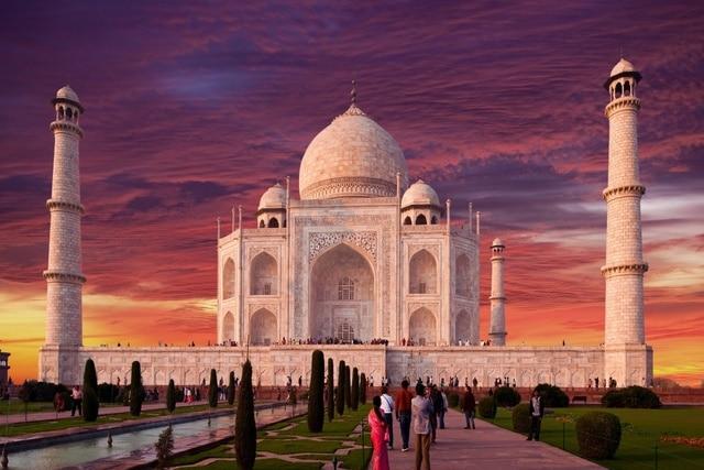 Taj Mahal Indian Monument Ultra Hindu Building Landscape KC040 Living Room  Bedroom Home Wall Modern Art
