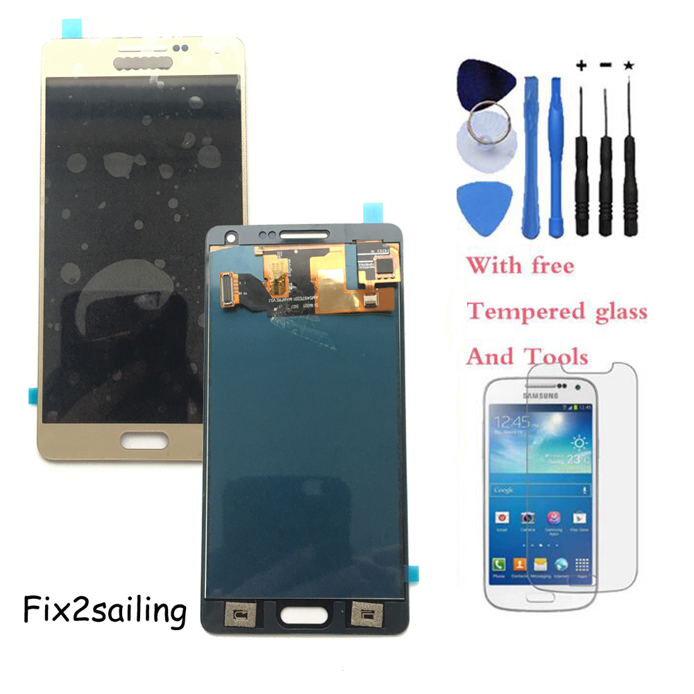 ФОТО 100% Test LCD Display Touch Screen Assembly part For Samsung Galaxy  A5 A500 A5000 Gold+With free tools