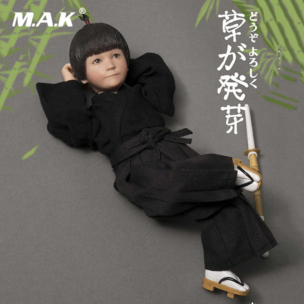 1//6 Lakor Baby Kendo Japanese Kids Doll Model Toy with Bamboo Sword Toy