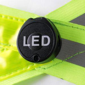 Image 5 - Ayarlanabilir USB şarj edilebilir led lamba yansıtıcı kemer yelek koşu bisiklet ışık gece korumak için güvenlik güvenlik yeşil