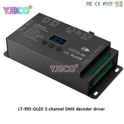 LTECH sterownik LED LT 995 OLED 5 kanałów DMX dekoder do RGB/RGBW taśmy led lampa DC12 24V 6A * 5CH max 30A wyjście Kontrolery RGB    -