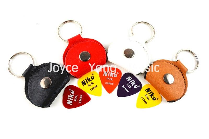 Gran colorido de cuero Selecciones de guitarra Holder Keyring + Free - Instrumentos musicales - foto 1