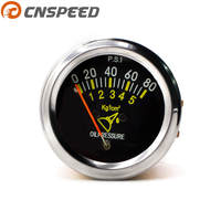 Free Shipping 12V DC Electrical Mechanical Car Oil Pressure Gauge 0 80 PSI Oil Press Meter
